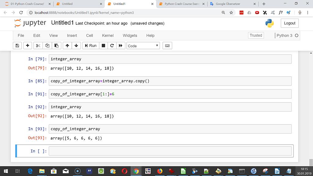 PythonTrading - 3 - Learning Numpy - Python Trading