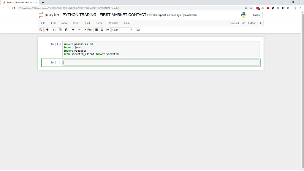 Python Trading - 4 - First market contact - Python Trading