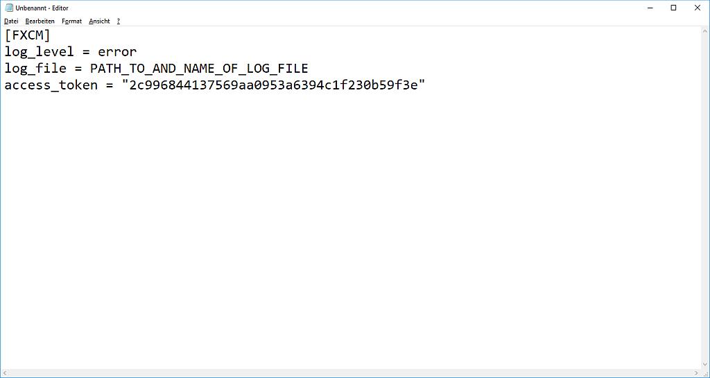 Fxcm Python
